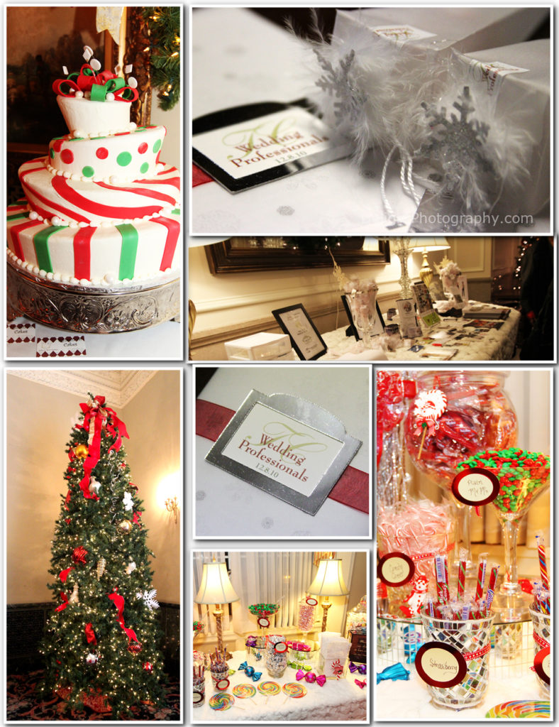 december themed cake and decor