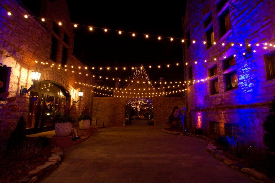 Courtyard at Van Dusen Mansion