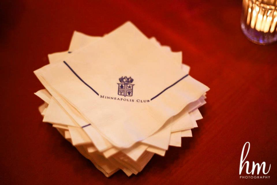 Minneapolis club napkins