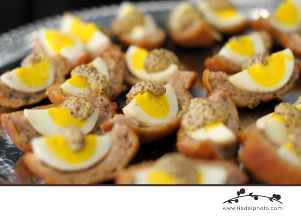 Egg appetizers