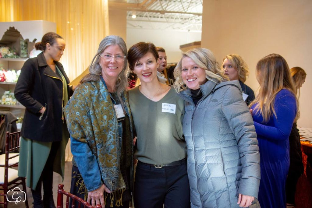 Leslie Johnson, Alison Munsell and Kathryn Kloster