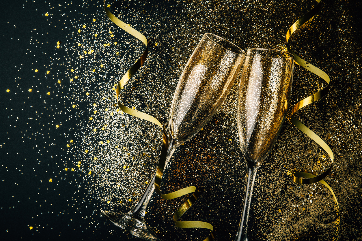 new year celebration champagne