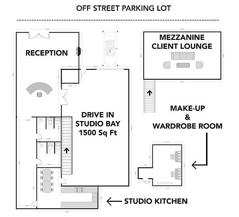 Photography studio layout