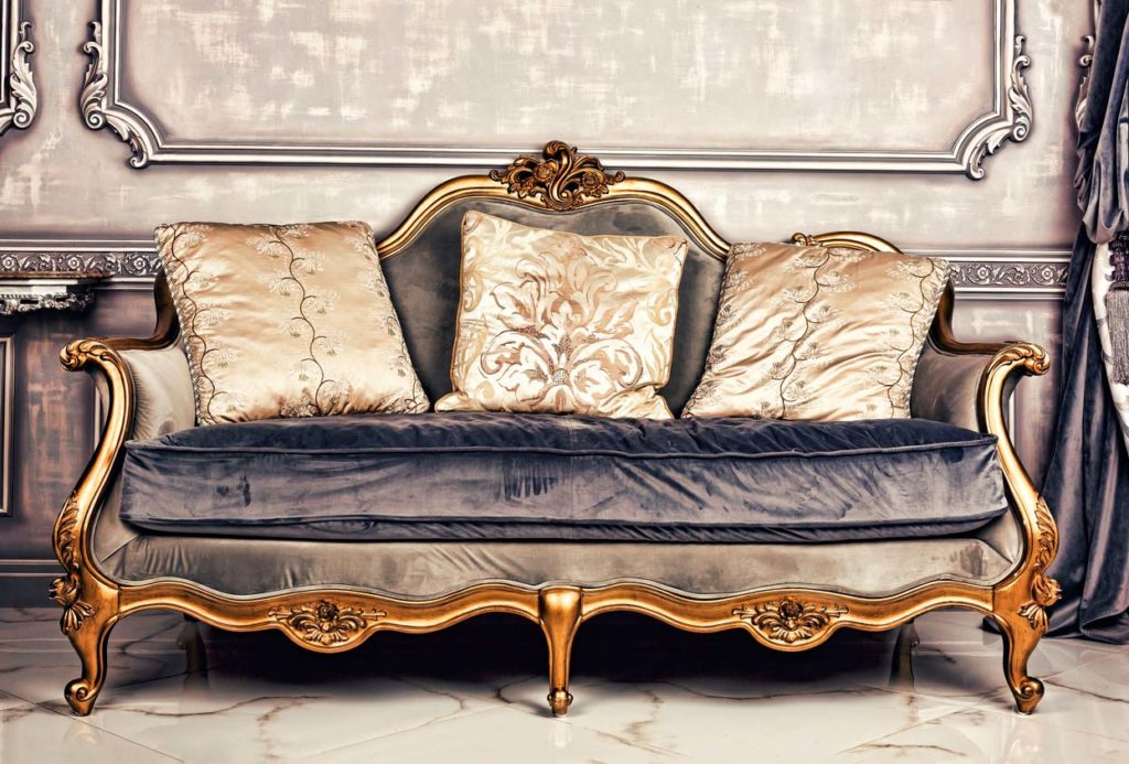 Luxury wedding couch