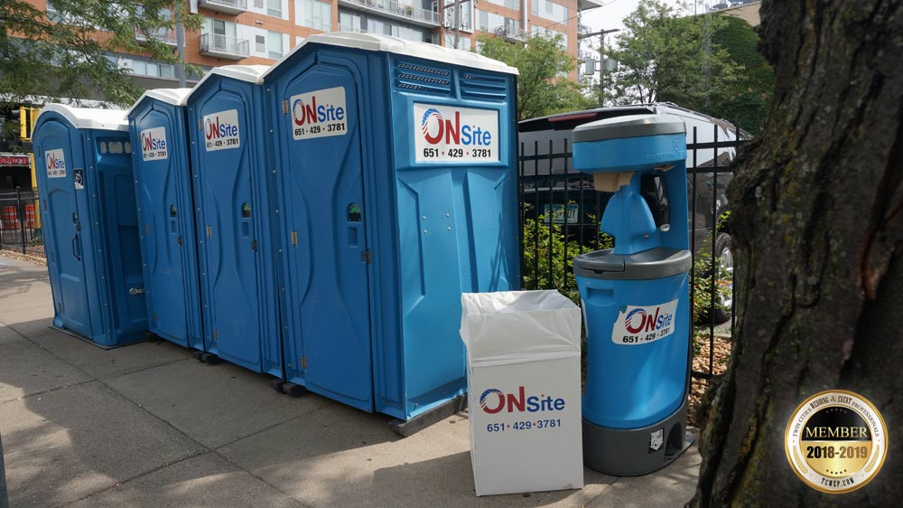 Onsite portable restrooms