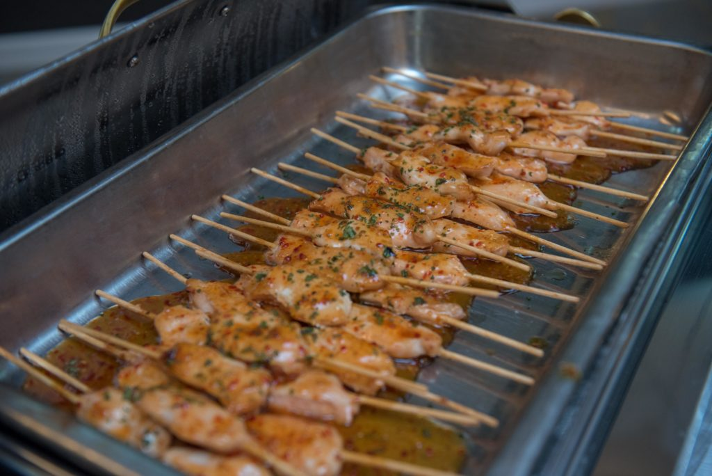 Petite Chicken Satay glazed with Sweet Pepper Sauce