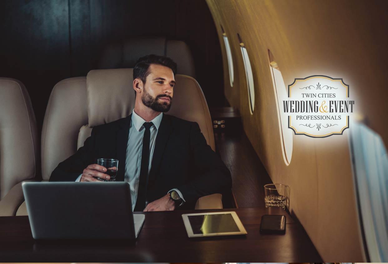 business man flight
