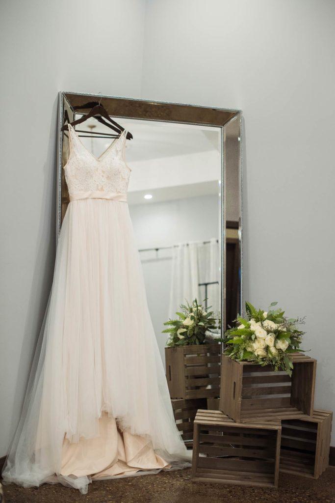 Bridal Dress on Mirror