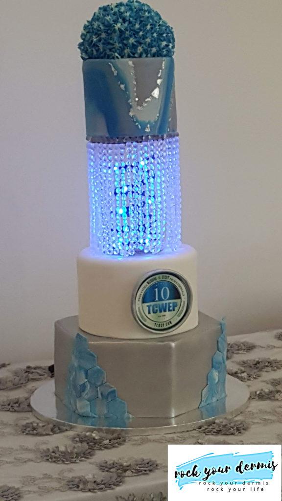 LED light up cake