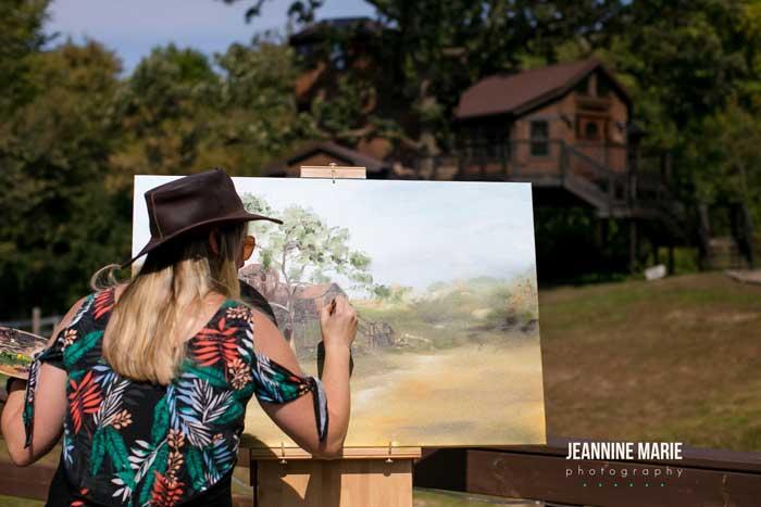 Leanne Larson paints
