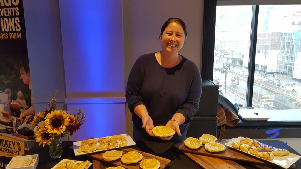Sarah Enrico with Food Gallery Catering
