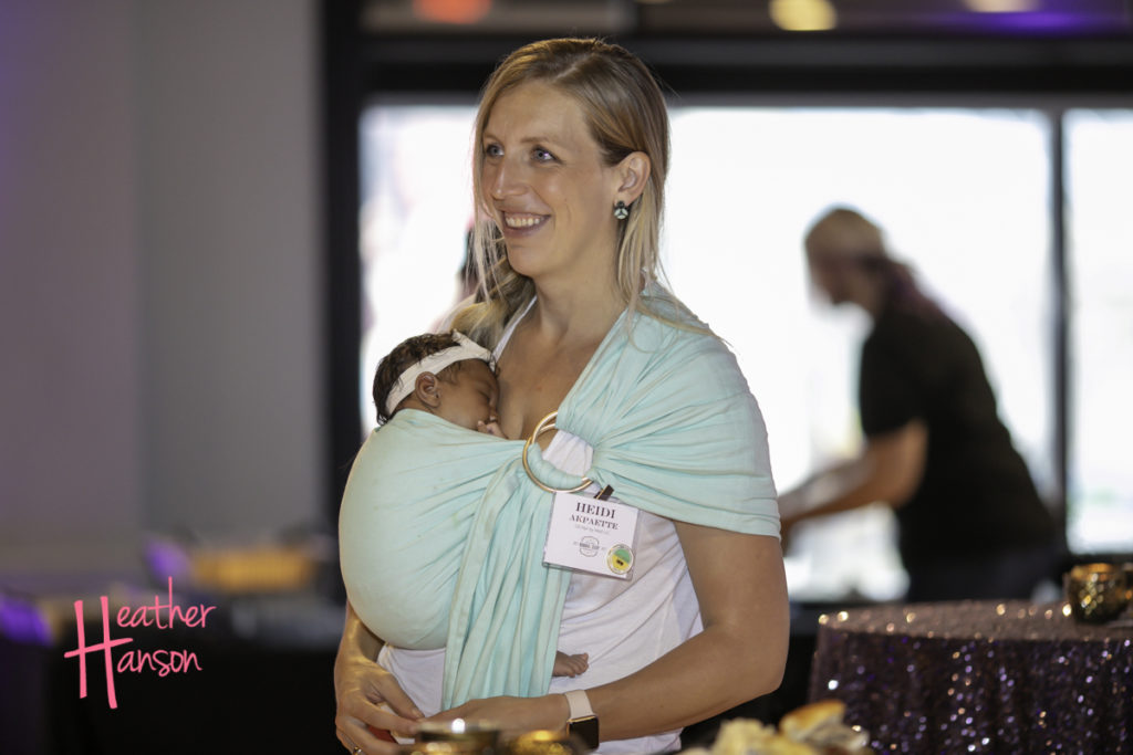 Heidi with new baby