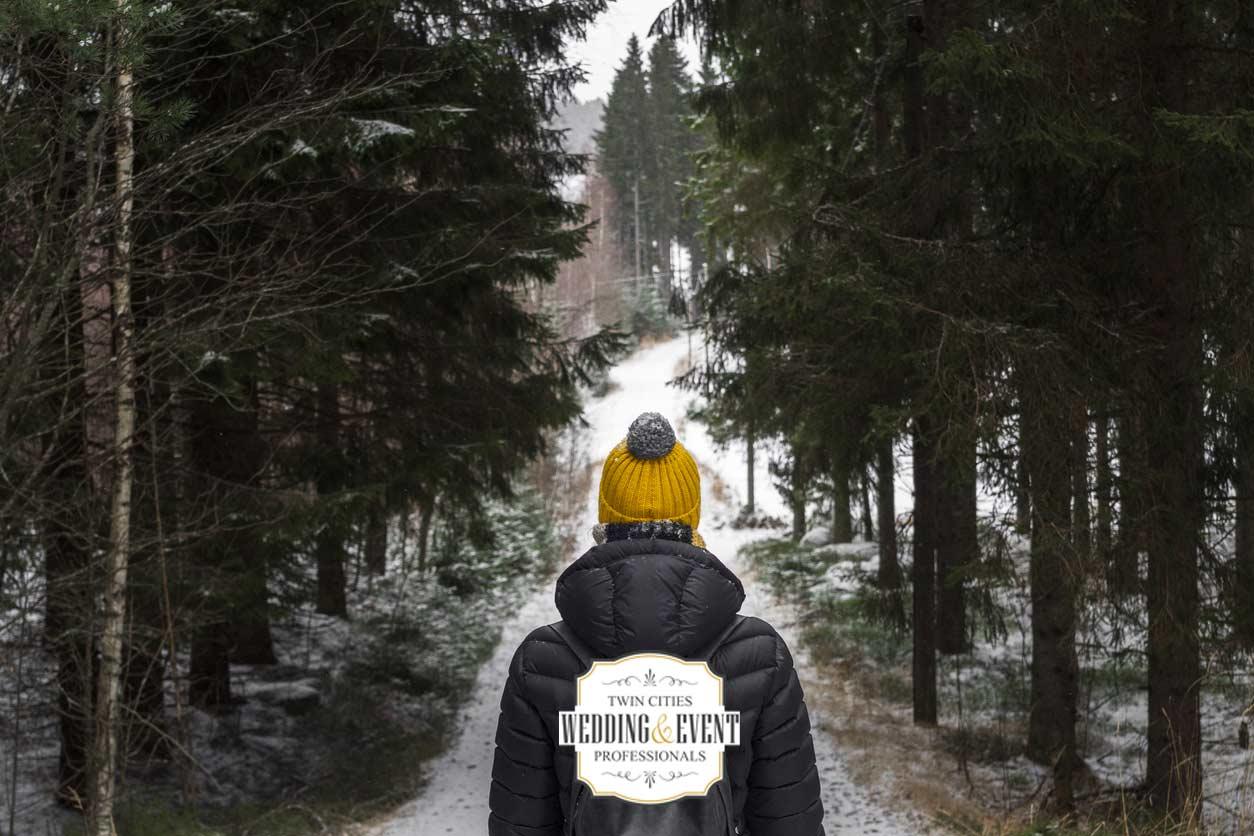 winter woods hike