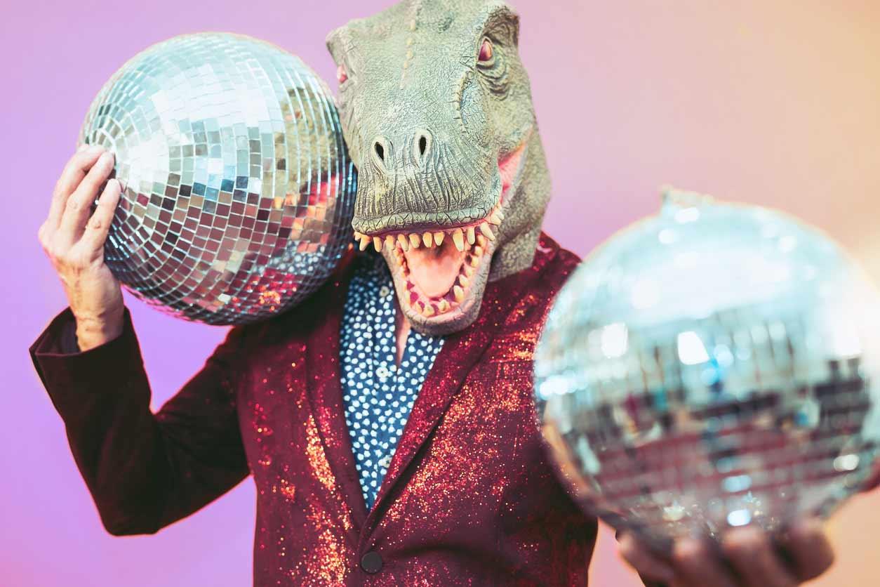 Disco Balls Dinosaur